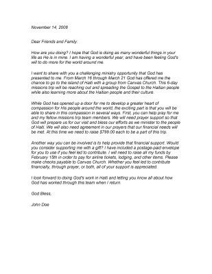 Ministry Support Letter Template 10 Best Images About Fundraising Letters On Pinterest