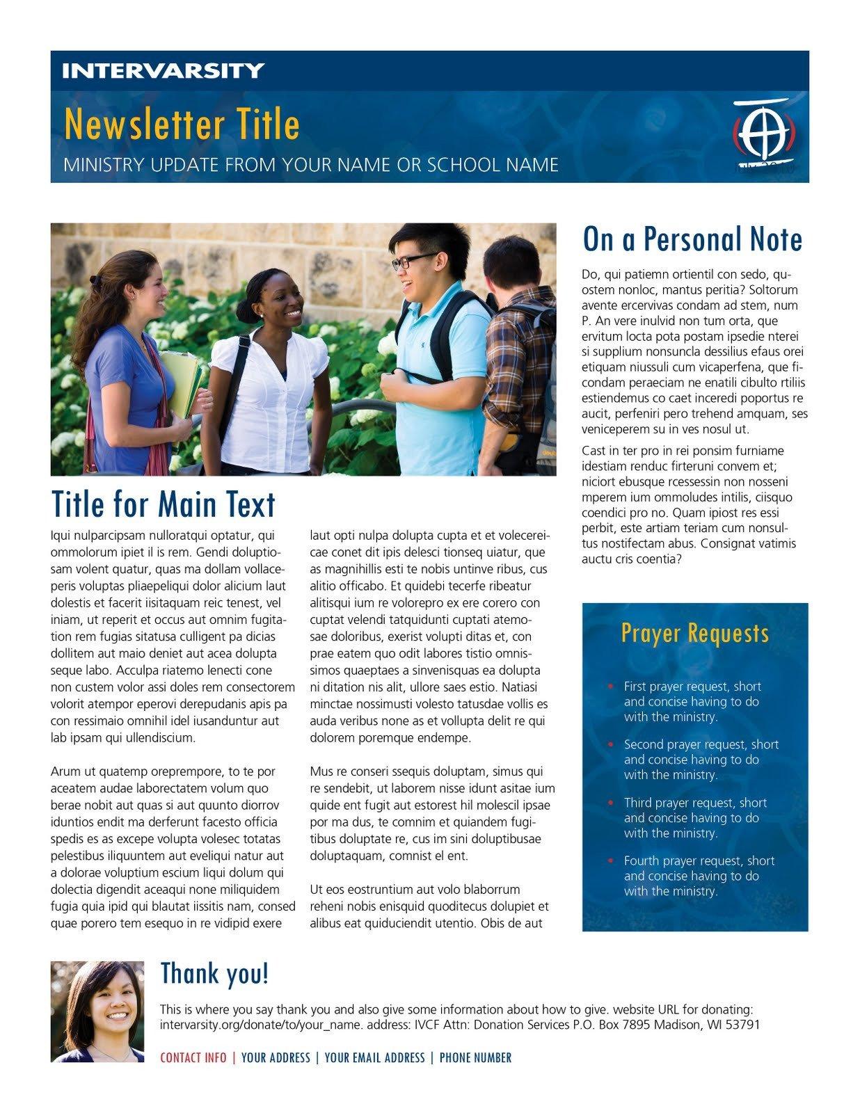 Ministry Support Letter Template La Raison D être Prayer Letter Templates