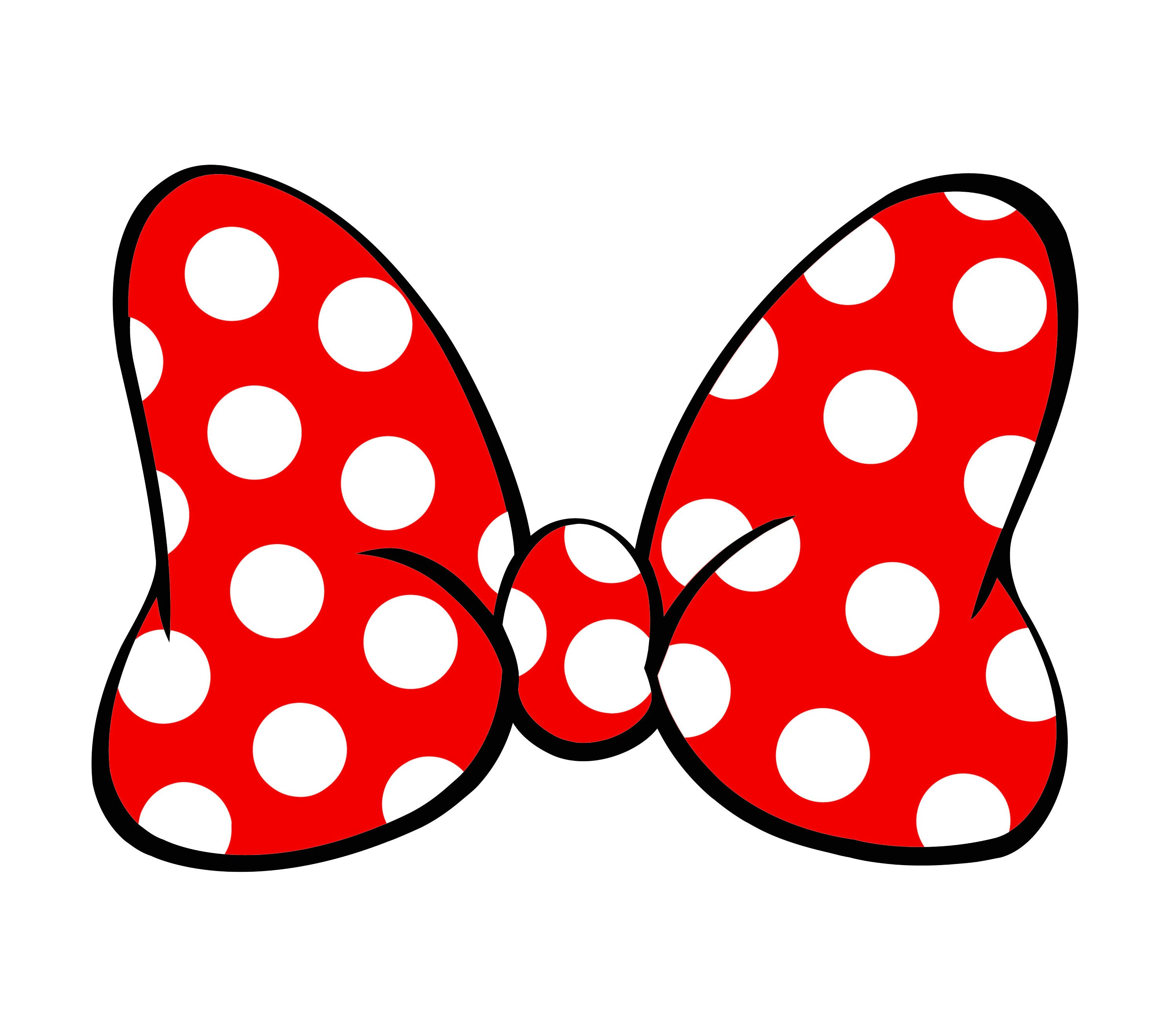 Minnie Mouse Bow Outline Cute Disney Minnie Mouse Bow Svg Png Files Svg Files for