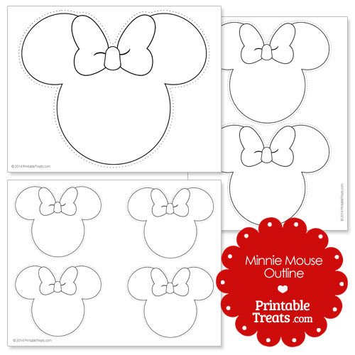Minnie Mouse Bow Outline Free Minnie Mouse Outline Head Download Free Clip Art