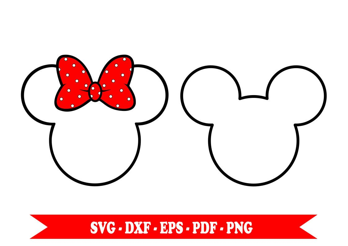 Minnie Mouse Bow Outline Minnie Mouse Bow Outline