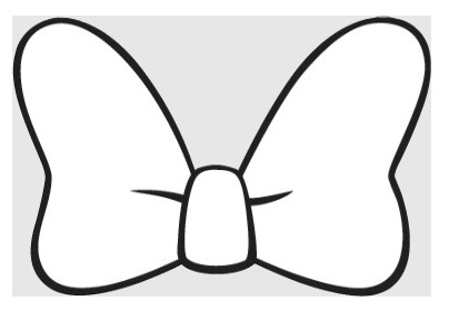 Minnie Mouse Bow Outline Minnie Mouse Bow Silhouette at Getdrawings
