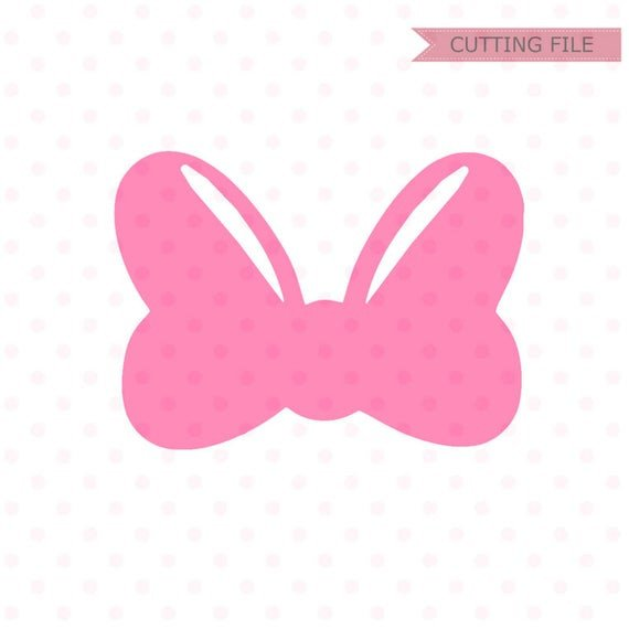 Minnie Mouse Bow Outline Minnie Mouse Bow Svg Minnie Mouse Cute Bow Svg and Png