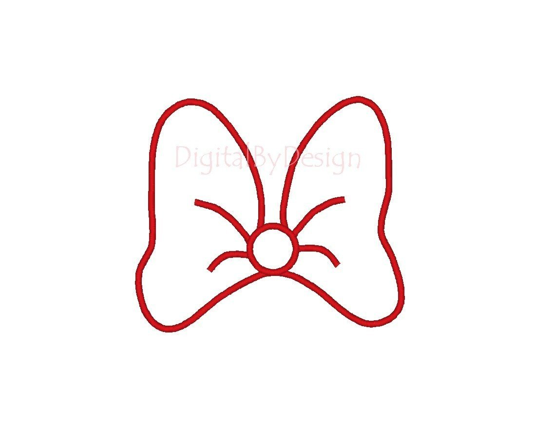 Minnie Mouse Bow Outline Minnie Mouse Head Outline Cliparts