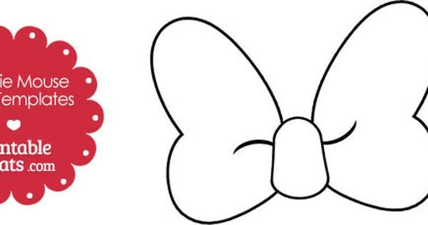 Minnie Mouse Bow Template 30 Of Minnie Mouse Bow Template