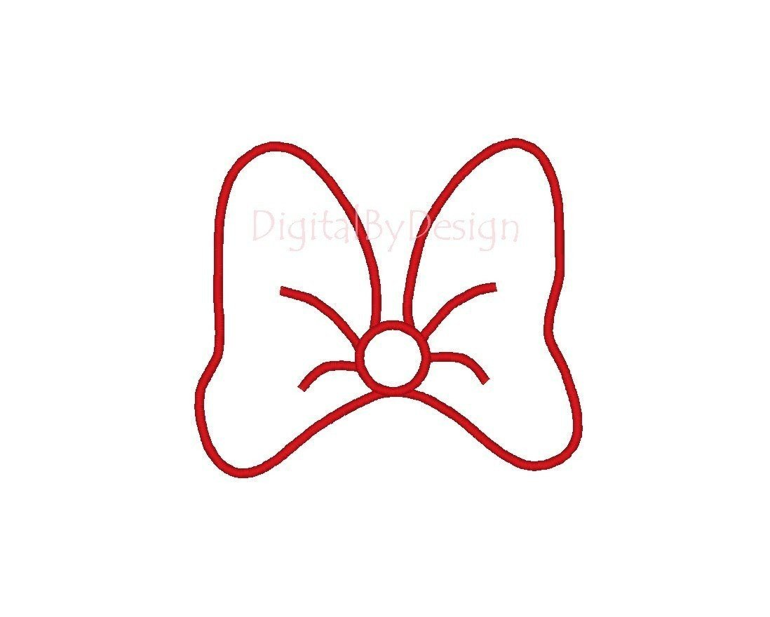 Minnie Mouse Bow Template Minnie Mouse Bow Stencil Disney