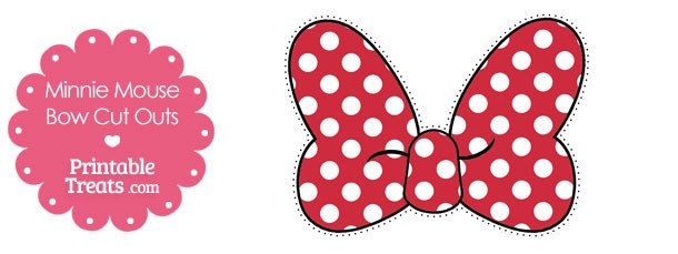 Minnie Mouse Bow Template Printable Minnie Mouse Bow Cut Outs — Printable Treats