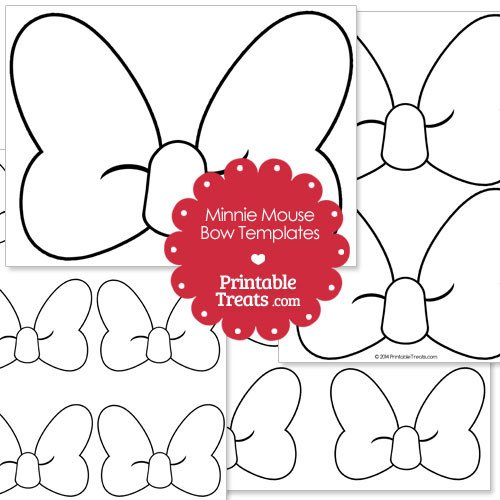 Minnie Mouse Bow Template Printable Minnie Mouse Bow Template — Printable Treats