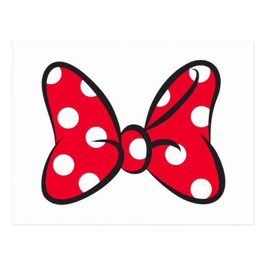 Minnie Mouse Bow Template Trendy Minnie Red Polka Dot Bow Postcard