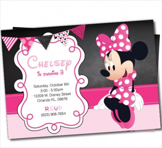 Minnie Mouse Invitation Maker 13 Cute Minnie Mouse Invitation Design Psd Vector Eps