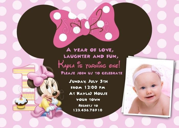 Minnie Mouse Invitation Maker 17 Best Ideas About First Birthday Invitations On