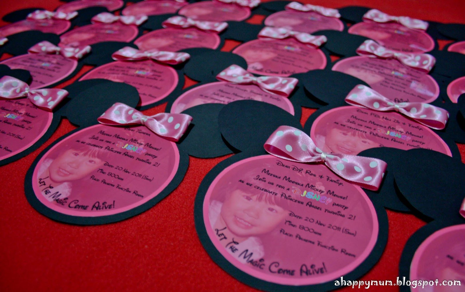 Minnie Mouse Invitation Maker A Happy Mum