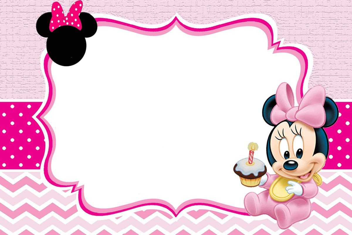 Minnie Mouse Invitation Maker Baby Minnie Mouse Invitation Template
