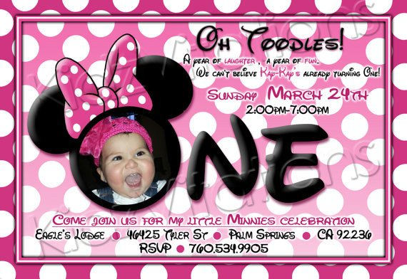 Minnie Mouse Invitation Maker Free Printable Minnie Mouse 1st Birthday Invitations