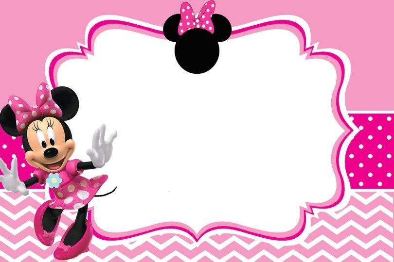 Minnie Mouse Invitation Maker Free Printable Minnie Mouse Pinky Birthday Invitation