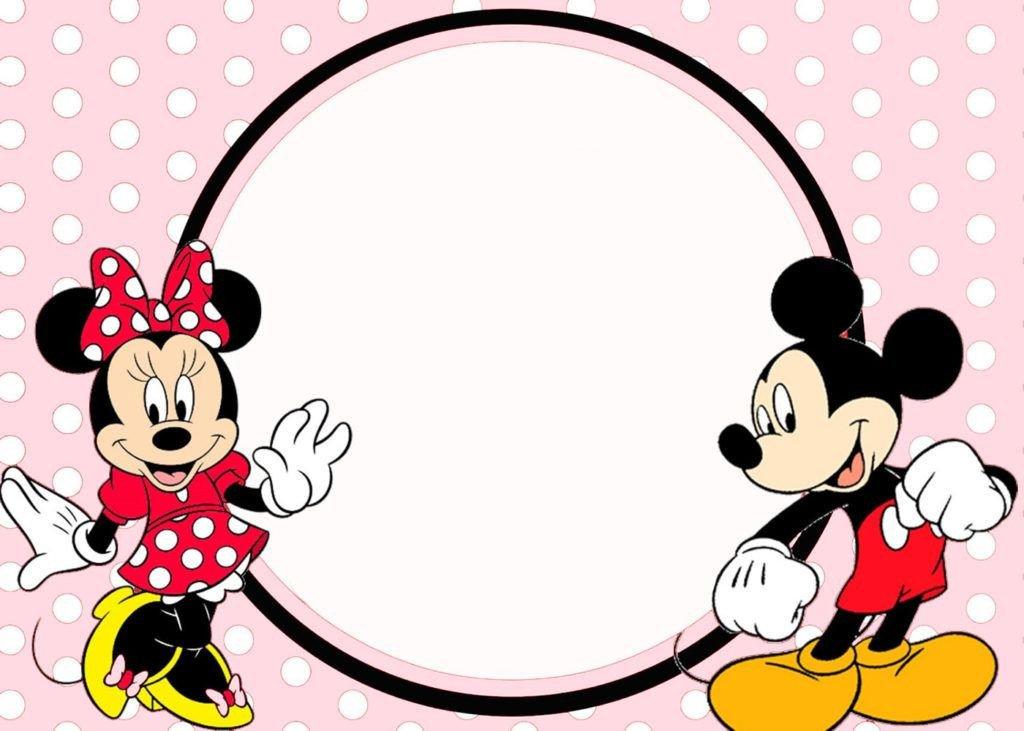 Minnie Mouse Invitation Maker Minnie and Mickey Invitation Template