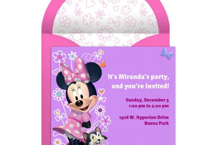 Minnie Mouse Invitation Maker Minnie Mouse Party Line Invitation