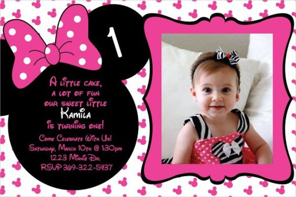 Minnie Mouse Party Invitations 20 Minnie Mouse Birthday Invitation Templates Psd Ai
