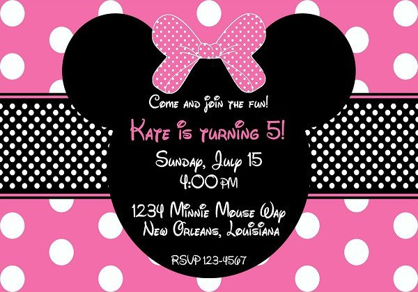 Minnie Mouse Party Invitations Birthday Invitations 365greetings