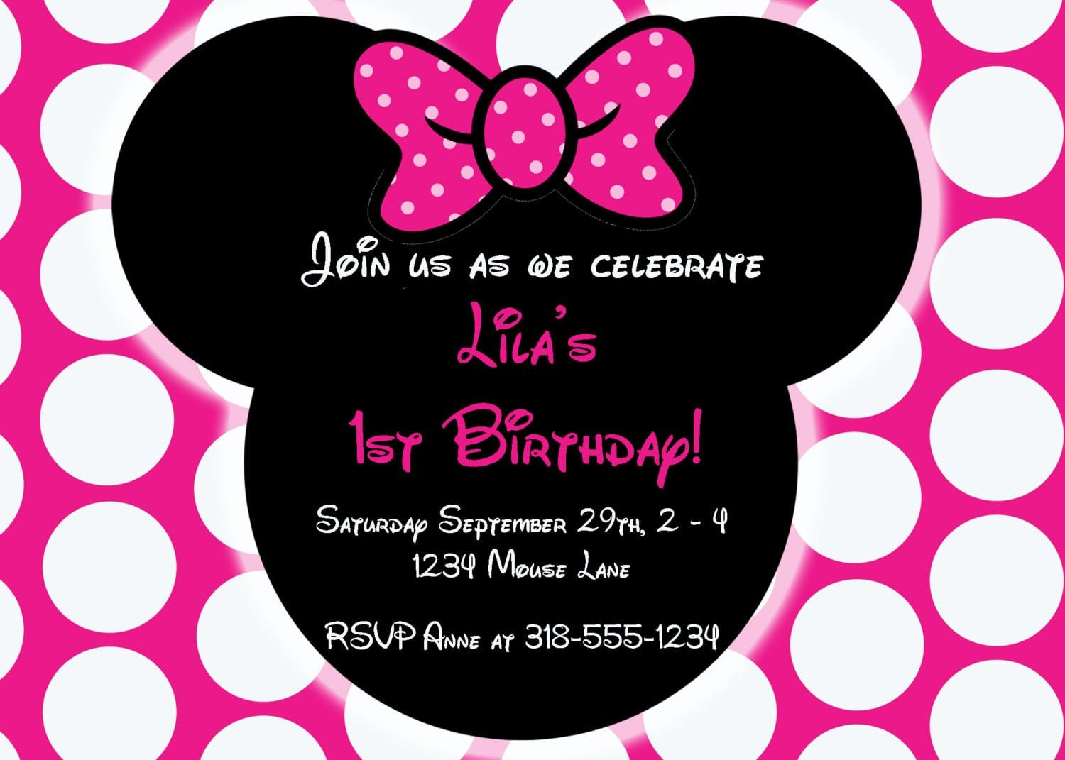 Minnie Mouse Party Invitations Editable Free Minnie Mouse Invitation