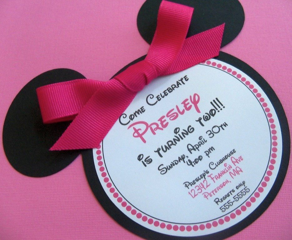 Minnie Mouse Party Invitations Minnie Mouse Birthday Invitations $30 for 12