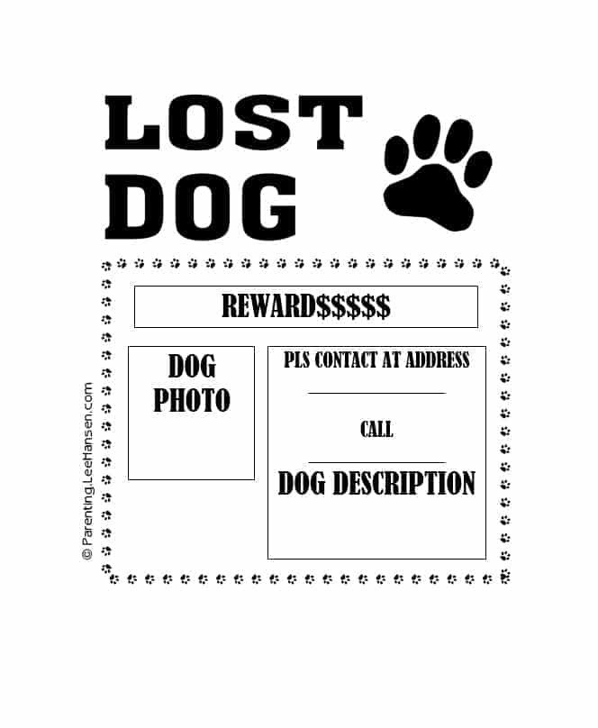 Missing Dog Flyer Template 40 Lost Pet Flyers [missing Cat Dog Poster] Template