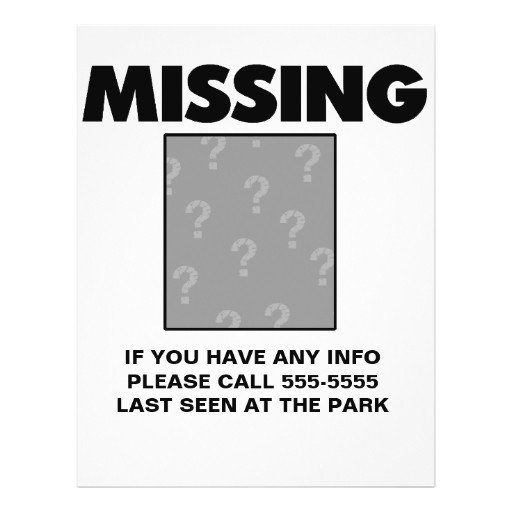 Missing Person Flyer Template Customizable Missing Person Child Item Pet Personalized
