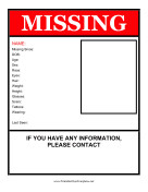 Missing Person Flyer Template Free Flyer Templates