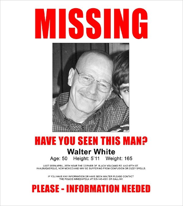 Missing Person Poster Template 16 Wanted Poster Templates Free Sample Example format