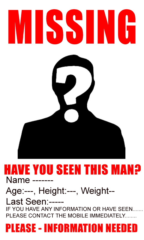 Missing Person Poster Template Amazon Missing Poster Appstore for android