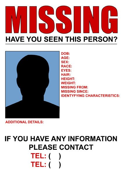 Missing Person Poster Template Missing Poster to Pin On Pinterest Pinsdaddy