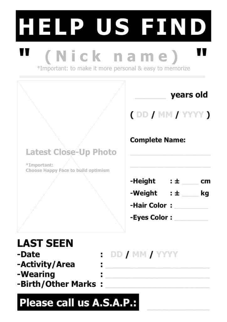 Missing Person Poster Template top 5 Resources to Get Free Missing Person Poster