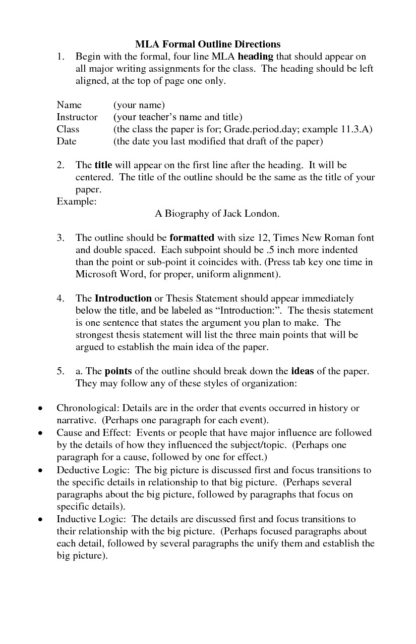 Mla format Outline Template Best S Of Mla format formal Outline Mla format