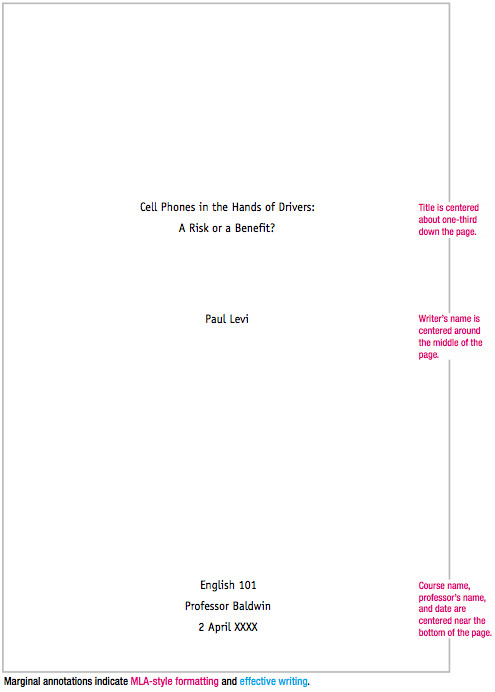 Mla format Outline Template Mla format Sample Paper with Cover Page and Outline