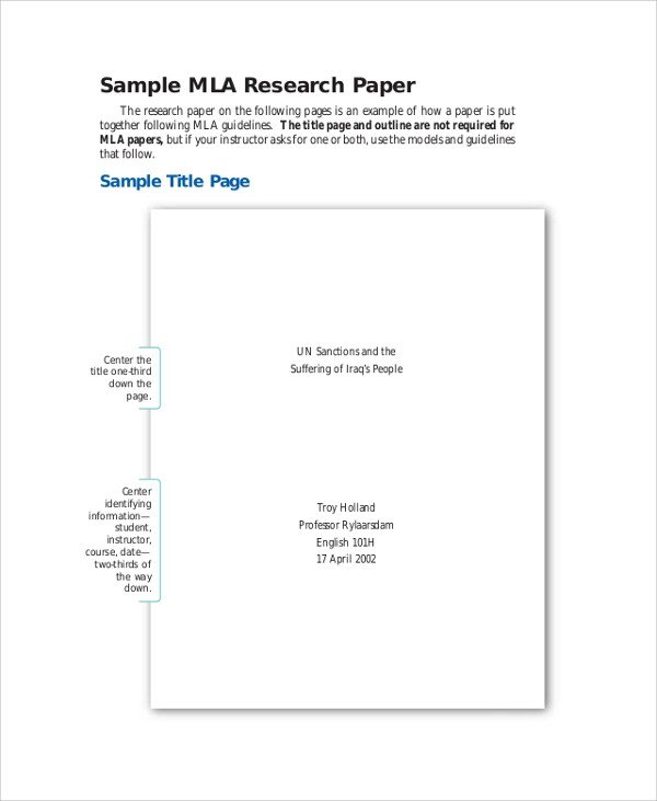Mla format Outline Template Sample Mla Outline 6 Documents In Pdf Word