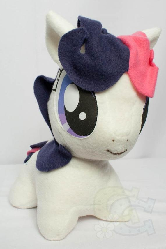 Mlp Chibi Plush Chibi Bon Bon Mlp Hand Made Custom Craft Plush