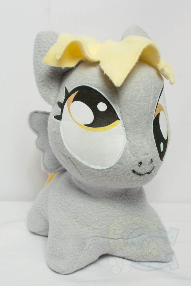 Mlp Chibi Plush Chibi Derpy Hooves Mlp Hand Made Custom Craft Plush
