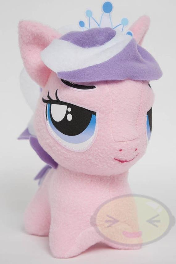 Mlp Chibi Plush Chibi Diamond Tiara Mlp Hand Made Custom Craft Plush