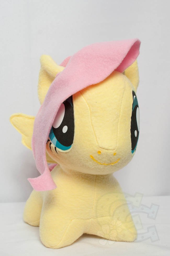 Mlp Chibi Plush Chibi Fluttershy Mlp Hand Made Custom Craft Plush