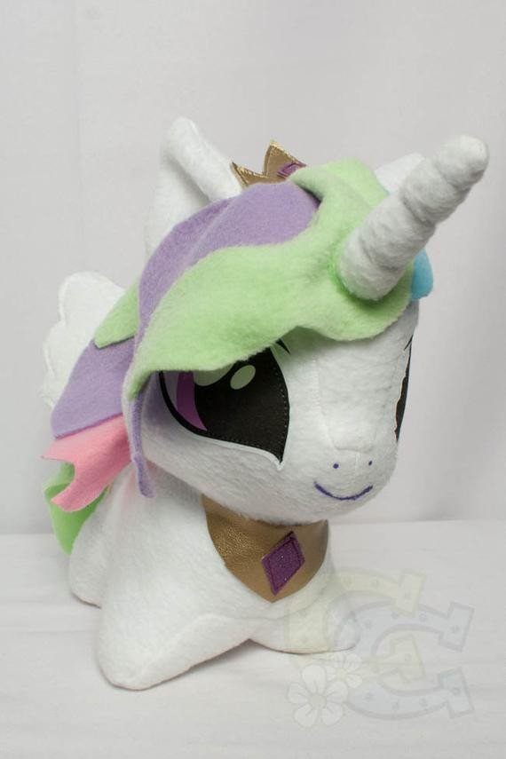 Mlp Chibi Plush Chibi Princess Celestia Mlp Hand Made Custom Craft Plush