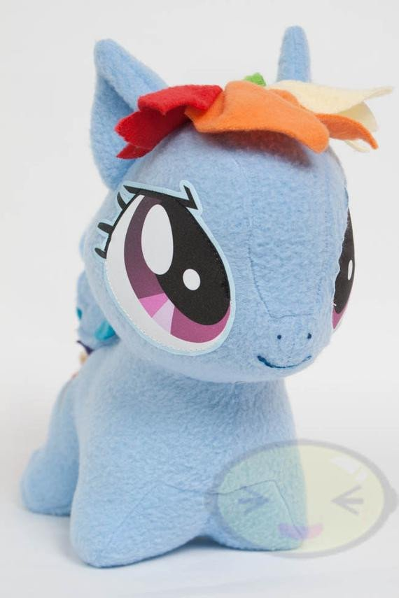 Mlp Chibi Plush Chibi Rainbow Dash Mlp Hand Made Custom Craft Plush by