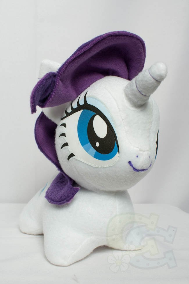 Mlp Chibi Plush Chibi Rarity Mlp Hand Made Custom Craft Plush