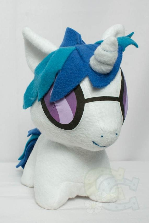 Mlp Chibi Plush Chibi Vinyl Scratch Dj Pon3 Mlp Hand Made Custom Craft Plush