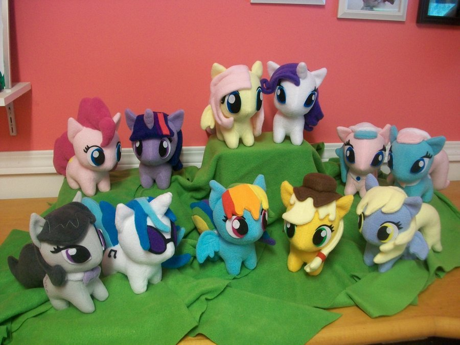 Mlp Chibi Plush My Little Pony Pony Crazy – Moggymawee Plushies