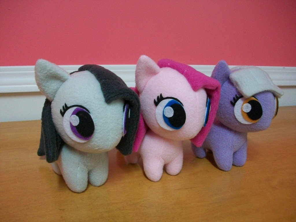 Mlp Chibi Plush Pie Sister Trio Chibi Pony Plush by Happybunny86 On Deviantart
