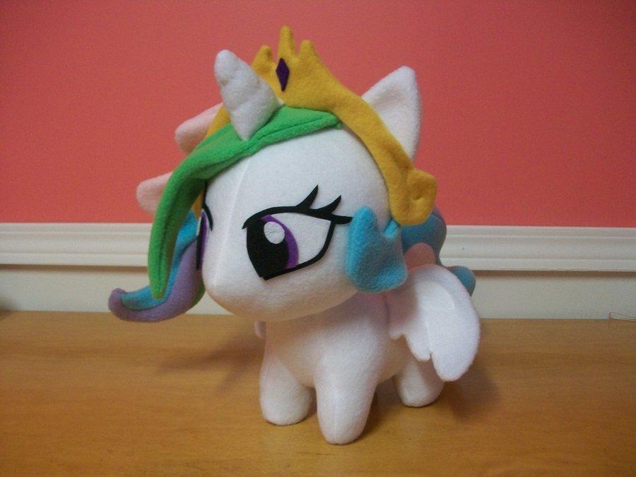 Mlp Chibi Plush Princess Celestia 12 Inch Chibi Pony Plushie by