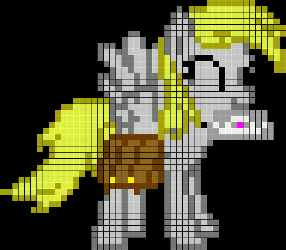 Mlp Pixel Art Template Derpy Hooves My Little Pony Perler Bead Pattern