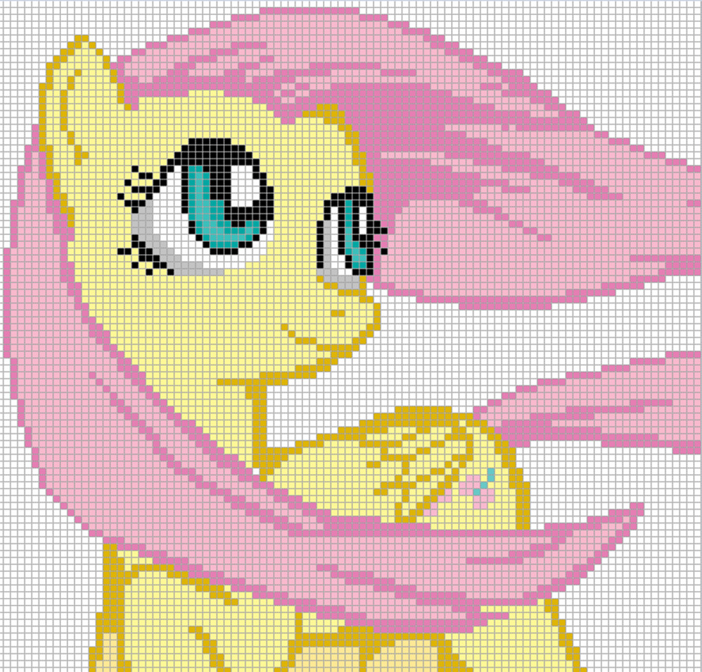 Mlp Pixel Art Template Fluttershy Template by Axelgold On Deviantart