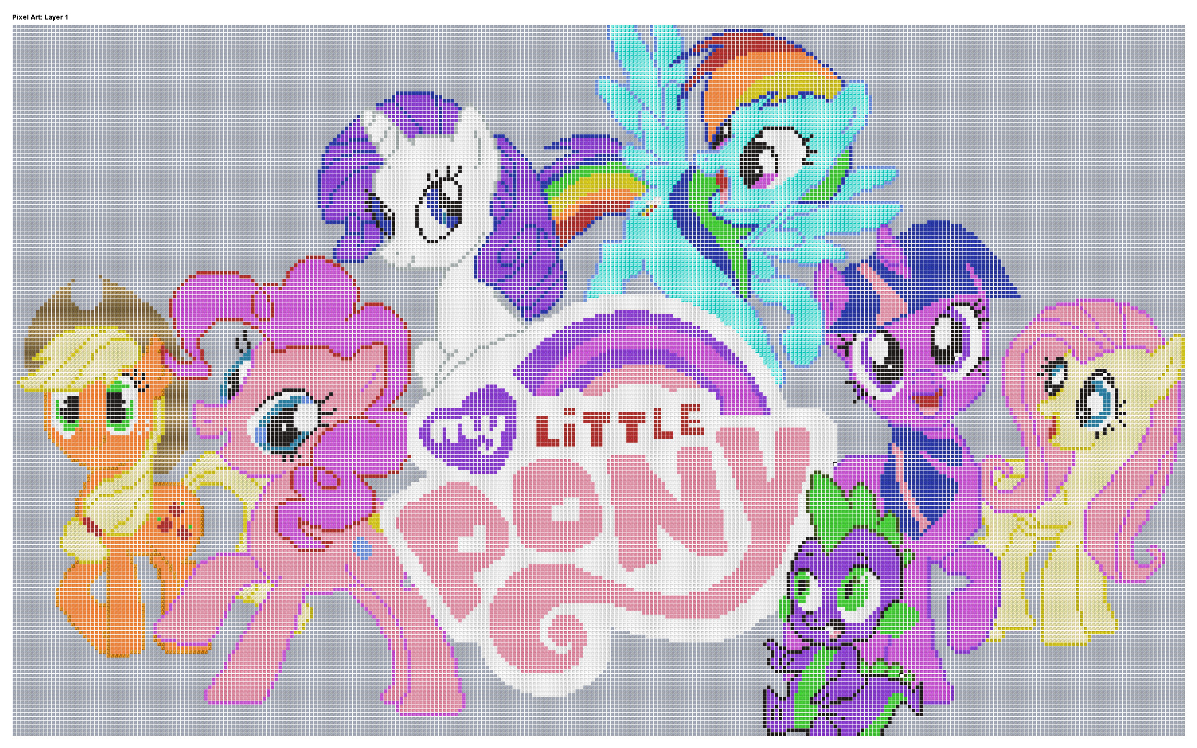 Mlp Pixel Art Template for Minecraft Pixel Art Templates My Little Pony