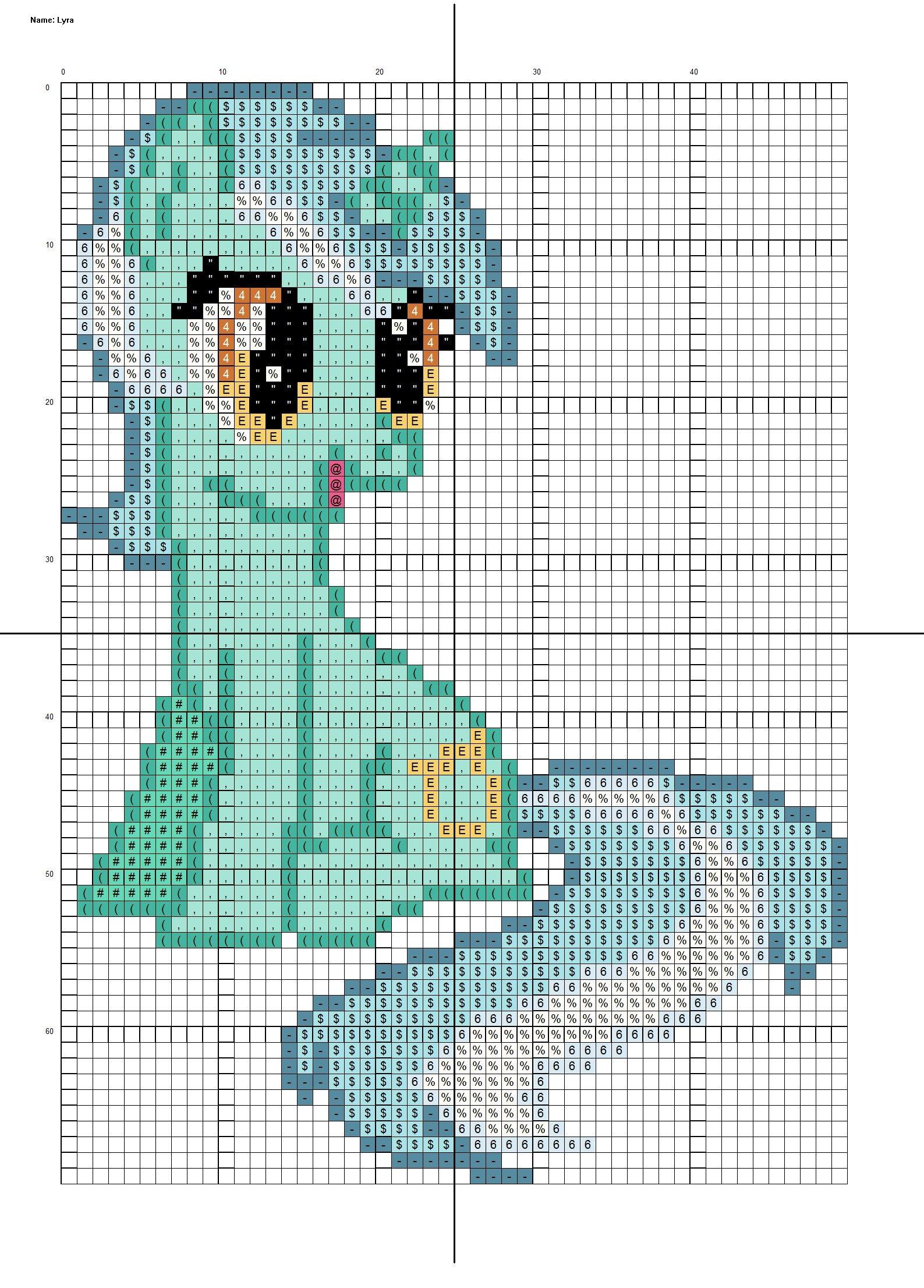 Mlp Pixel Art Template Mlp Friendship is Magic Lyra